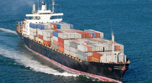 Cargo Vessel with containers, UK Import Services